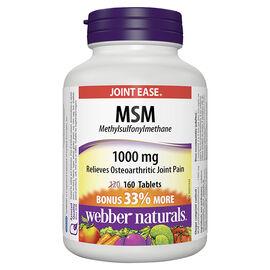 Webber Naturals MSM 1000mg - 120's