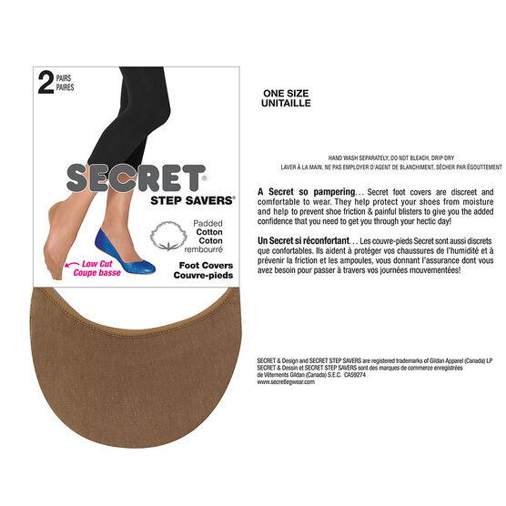 Secret Step Saver Foot Cover - Nude - 2 pair