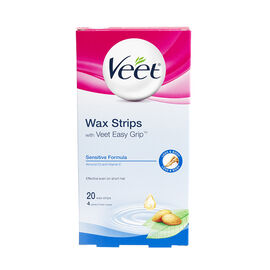 Veet Easy to Use Wax Strips - Sensitive Formula - 20's