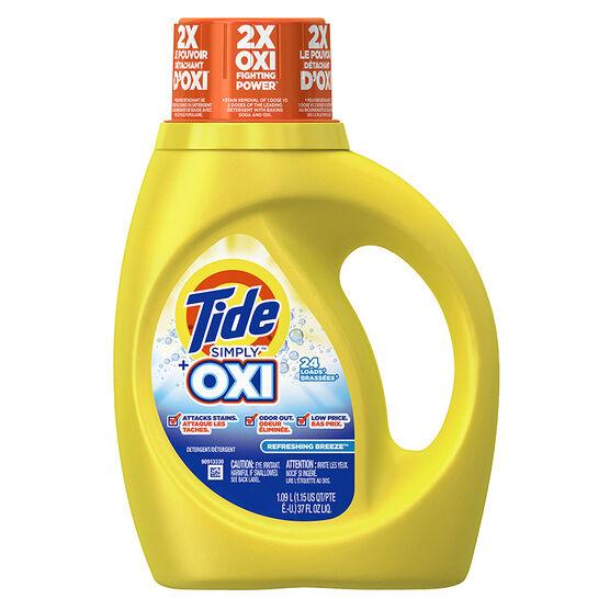Tide Simply Plus Oxi Liquid Laundry Detergent - 1.09L