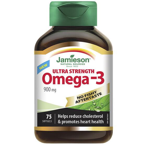 Jamieson Ultra Strength Omega-3 - 900mg - 75's