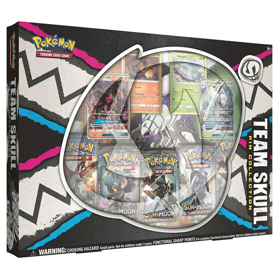 Pokemon Team Skull Pin Box