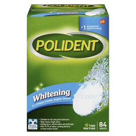 Polident Whitening Denture Cleanser - Triple Mint Fresh - 84's