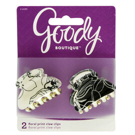Goody Boutique Floral Print Claw Clips - 11485 - 2's