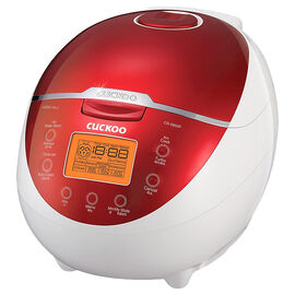Cuckoo 6 cup Rice Cooker - Red/White - CR-0655F