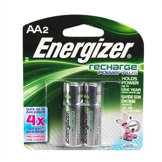 Energize AA NiMH Rechargeable Batteries - 2 Pack - NH15BP2