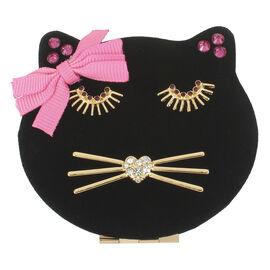 Betsey Johnson Cat Compact Mirror - Black