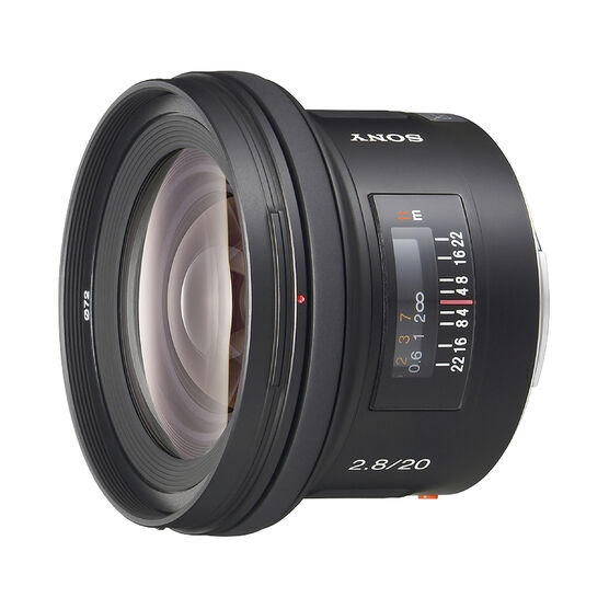 Sony 20mm f/2.8 Wide Angle Lens for Alpha DSLR - SAL20F28