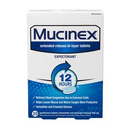 Mucinex Expectorant Tablets - 20's
