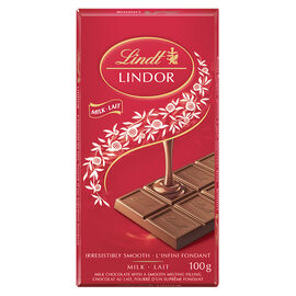 Lindt Lindor Bar - Milk Chocolate - 100g