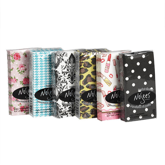 Nosees Pocket Tissues - Assorted - 10's/Adult