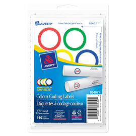 Avery Colour Coding Labels - 1-1/4 Inches Round - 160 Labels