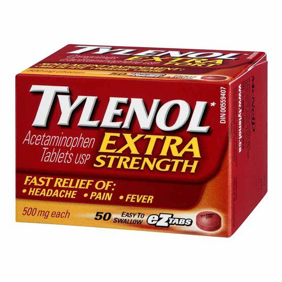 Tylenol* Extra Strength Tablets - 50's