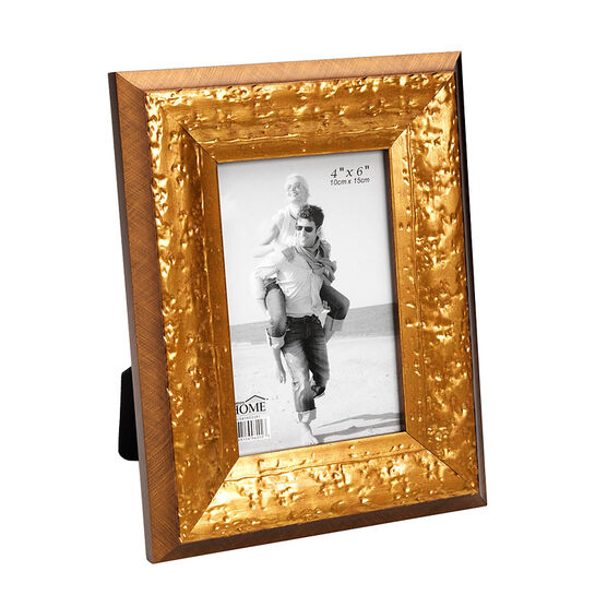 London Home Picture Frame - Distressed Gold - 4x6in