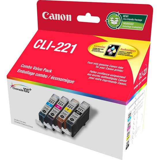 Canon CLI-221 Ink Combo Value Pack - 2946B005