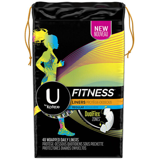 U by Kotex Fitness Liners - Regular - 40's