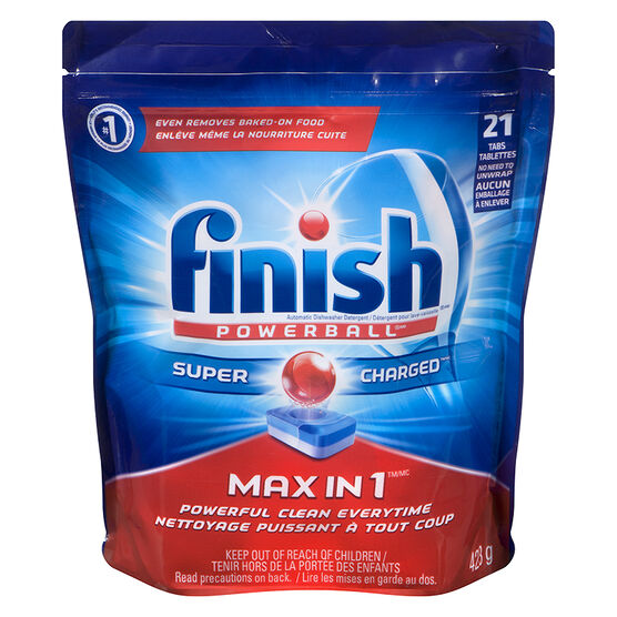 Finish Max in 1 Powerball Dishwasher Tablets - 21's