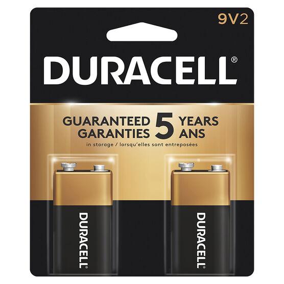 Duracell CopperTop 9V Alkaline Batteries - 2 pack