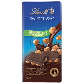 Lindt Swiss Classic Bar - Dark Chocolate Hazelnut - 100g