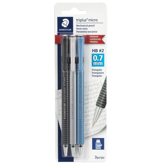 Staedtler Triplus Micro Mechanical Pencil - 0.7mm - 3 Pack