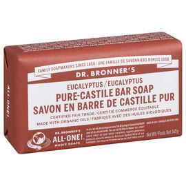 Dr. Bronner's Pure-Castile Bar Soap - Eucalyptus - 140g