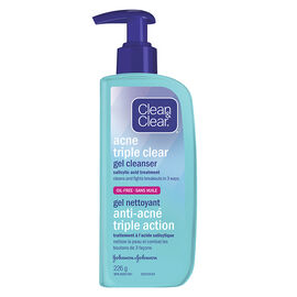 Clean & Clear Acne Triple Clear Gel Cleanser - 226g