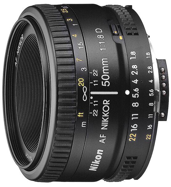 Nikon AF FX 50mm f/1.8D Lens