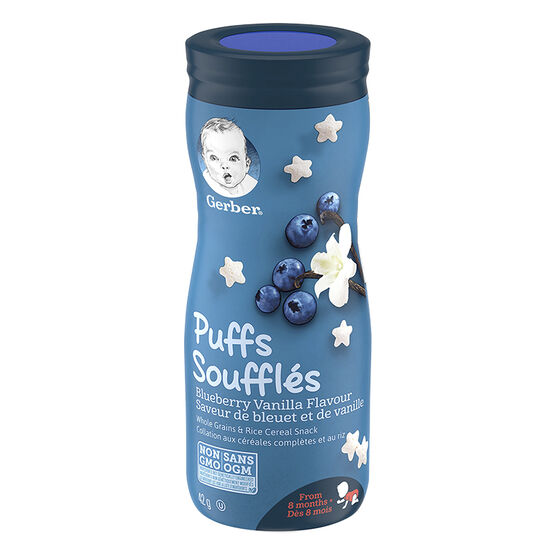 Gerber Toddler Snacks Puffs - Blueberry Vanilla - 42g