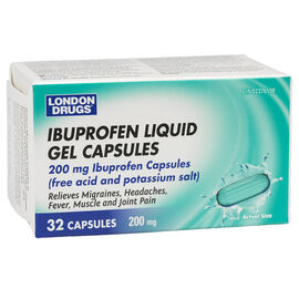 London Drugs Ibuprofen Liquid Gel Capsules - 200mg - 32's