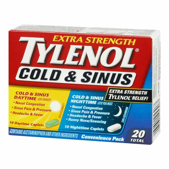 Tylenol* Extra-Strength Daytime & Nighttime Cold & Sinus - 20's