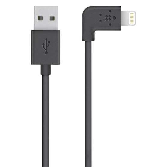 Belkin 90 Degree Lightning to USB Cable - Black - F8J147BT04BLK