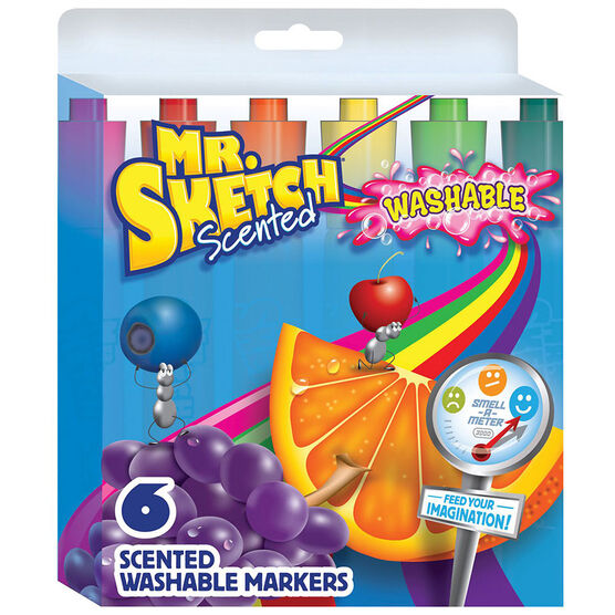 Mr. Sketch Scented Washable Markers - 6 pack
