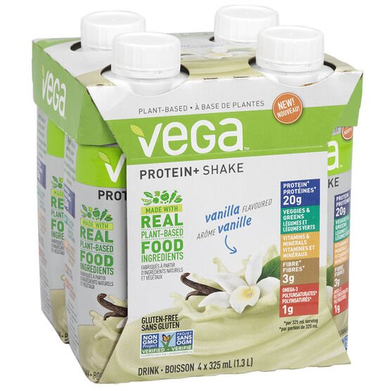 Vega Protein+ Shake - Vanilla - 4 x 325ml