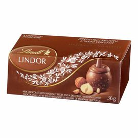 Lindt Lindor 3 Pack - Hazelnut - 36g