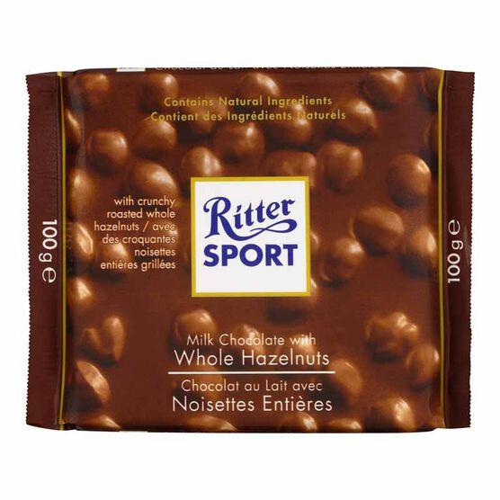 Ritter Sport - Milk Chocolate with Whole Hazelnuts - 100g
