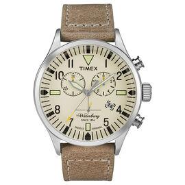 Timex Fashion Chronograph Watch - White/Brown - TW2P84200AW