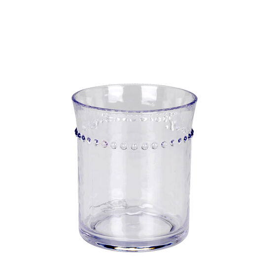 London Drugs Double Old Fashion Beaded Tumbler - Clear - 14oz