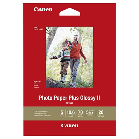 Canon Glossy Photo Paper - 5 x 7 inch - 20 Sheets - 1432C002