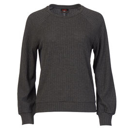 Lava Long Sleeve Crew Neck Sweater - Charcoal - Assorted