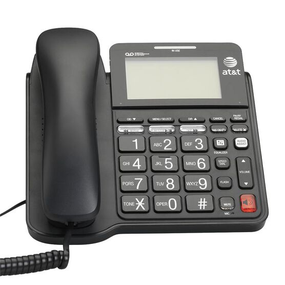 AT&T Big Button Corded Phone with Caller ID - Black - CL4940