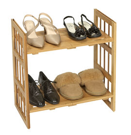 London Drugs Bamboo Expandable Shoe Rack