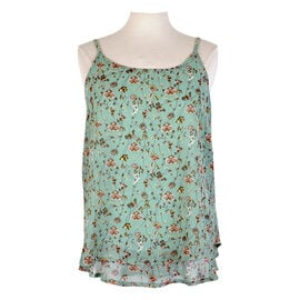 Lava Printed Sleeveless Blouse - Mint