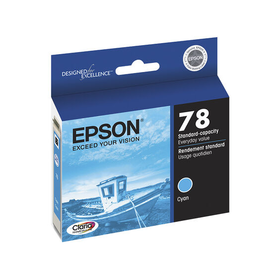 Epson 78 Claria Hi-Definition Ink 78 Standard-Capacity Colour Ink Cartridge - Cyan - T078220-S