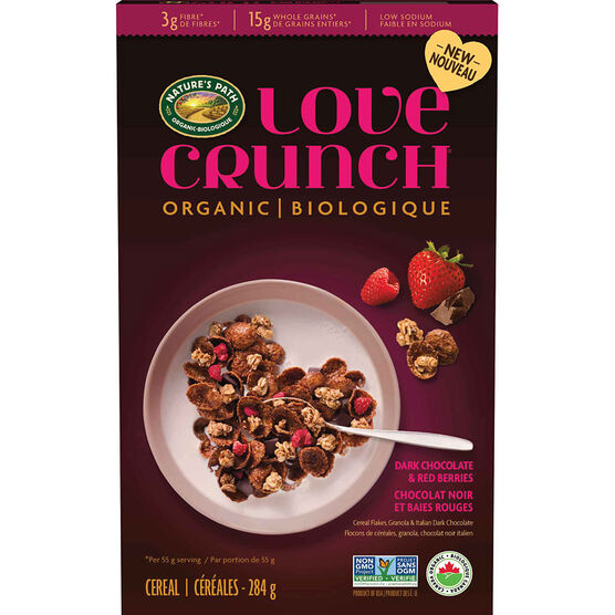 Nature's Path Love Crunch Cereal - Dark Chocolate & Red Berry - 284g
