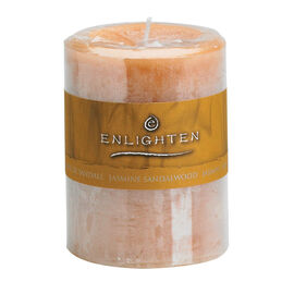 Enlighten Pillar Candle - Jasmine - 3x4inch