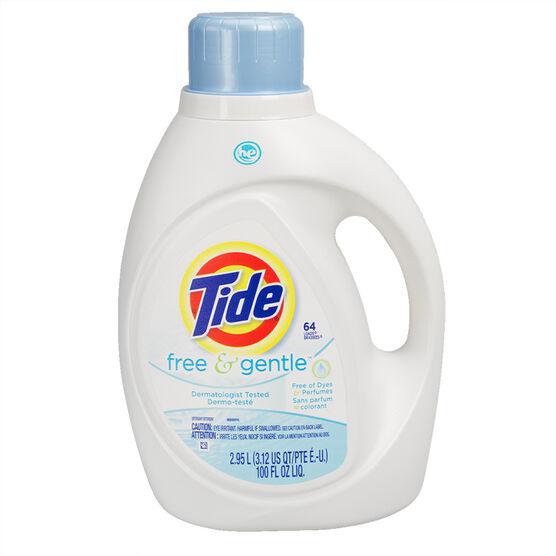 Tide HE Liquid Laundry Detergent - Free & Gentle - 2.95L/64 use