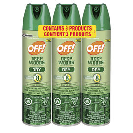 Off Deep Woods Dry Value - 3 pack