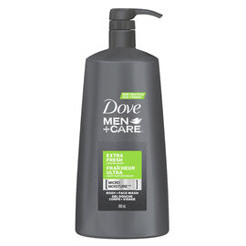 Dove Men+Care Extra Fresh Micro Moisture Body + Face Wash - 695ml
