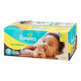 Pampers Swaddlers Diapers - Size 3 - 88's