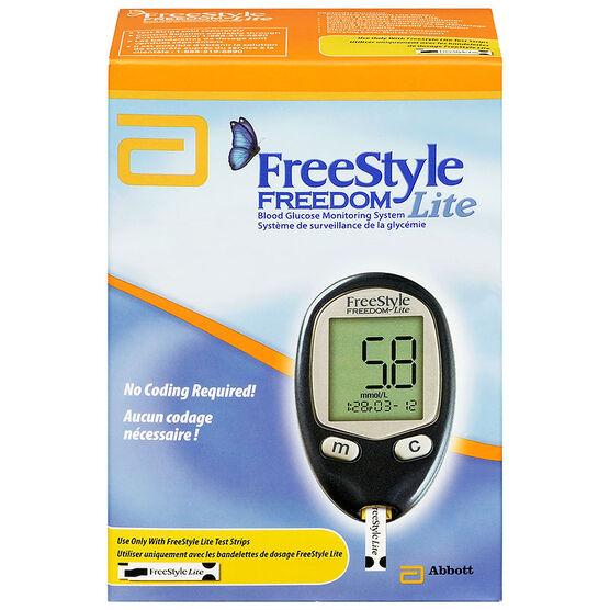 Abbott FreeStyle Freedom Lite Blood Glucose Monitor - 70913